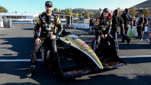 DWTS Burgess with Hinch at IndyCar Sonoma GP