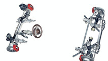 Porsche 911 Carrera front and rear axle