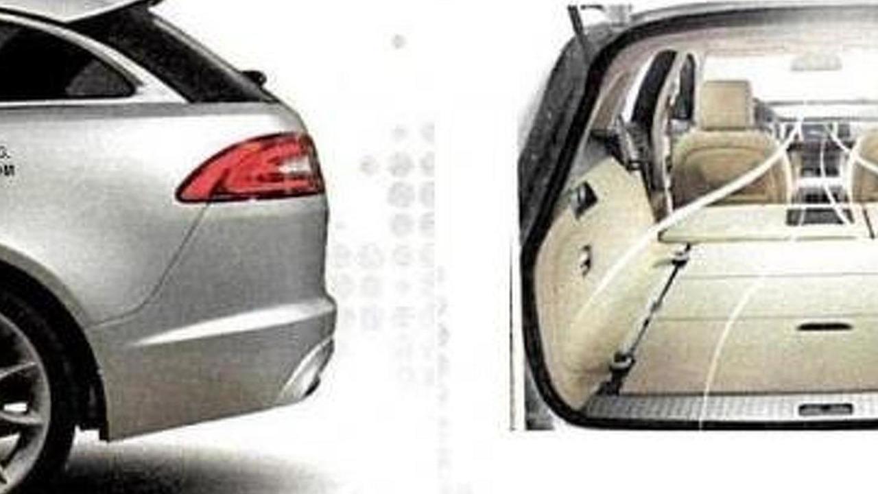 2013 Jaguar XF Sportbrake leaked image