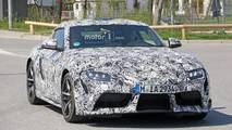 Toyota Supra with production wheels spy photo