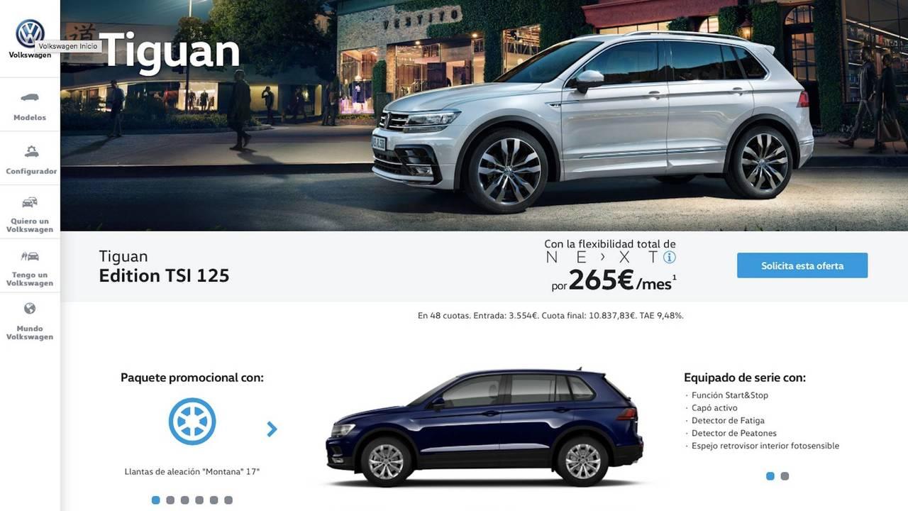Volkswagen Tiguan 2018, por 265 euros al mes