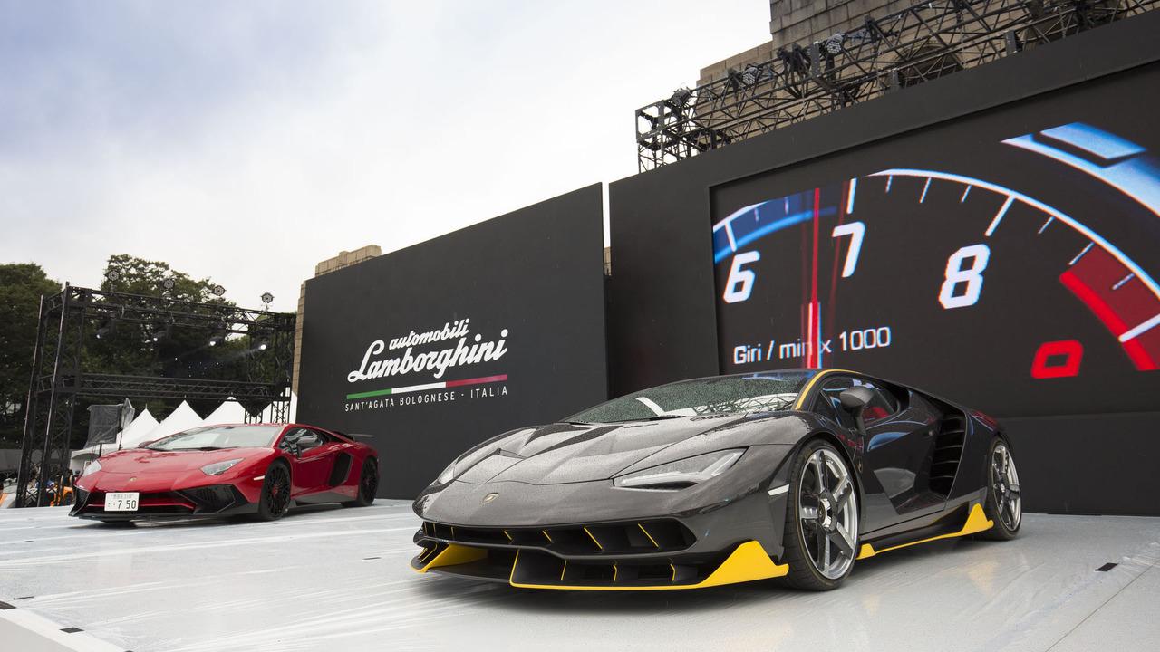 Lamborghini carbon fiber exhibit
