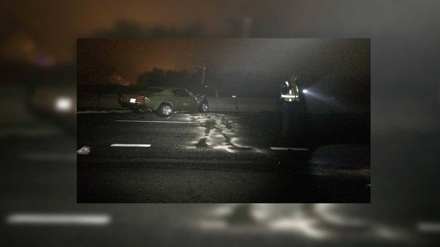 Couple Crashes Into Each Other, Vintage Camaro Pays The Price