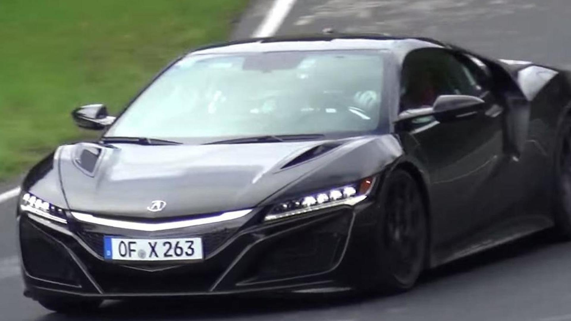 acura nsx 2016 black. black 2016 acura nsx nearproduction prototype spotted on the nordschleife video nsx