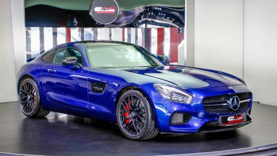 Dubai dealership shows off blue Mercedes-AMG GT S (35 pics)