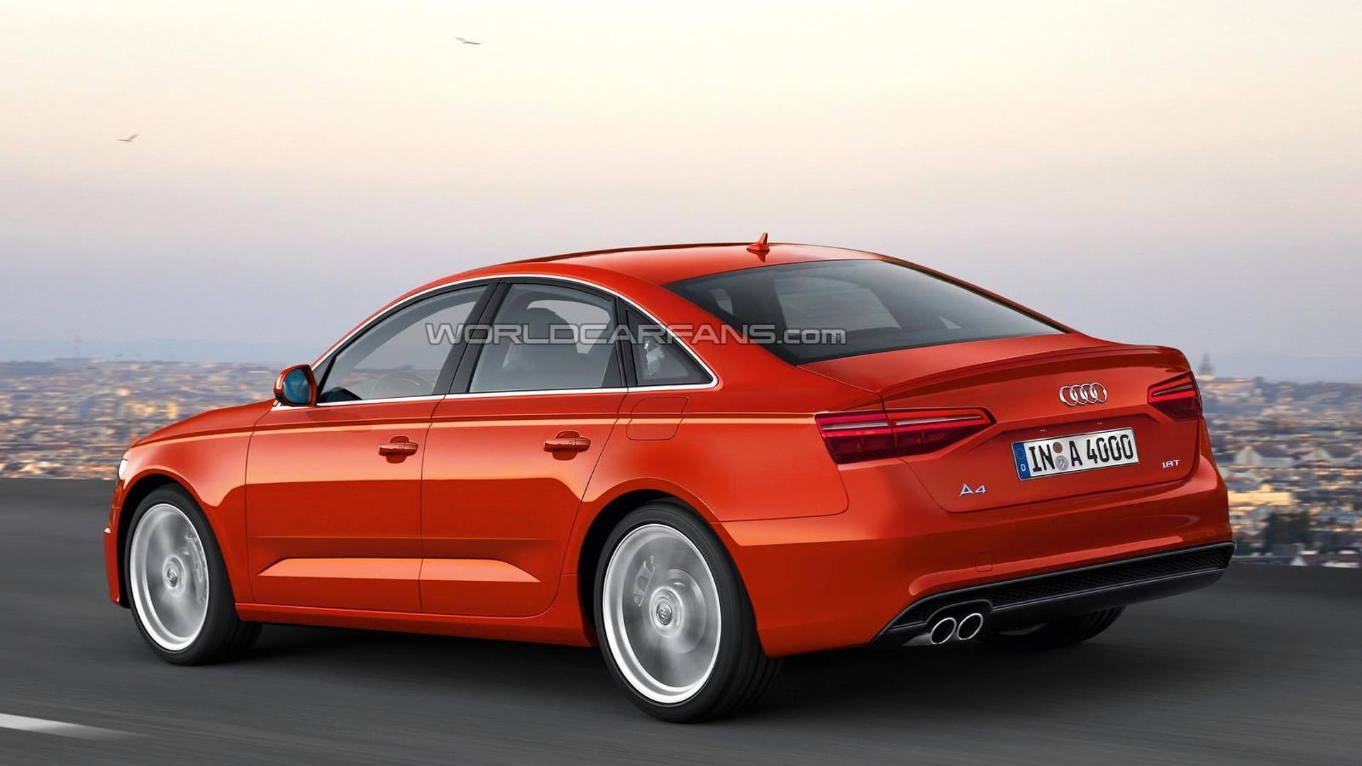 Новый седан Audi A4, неофициальный дизайн