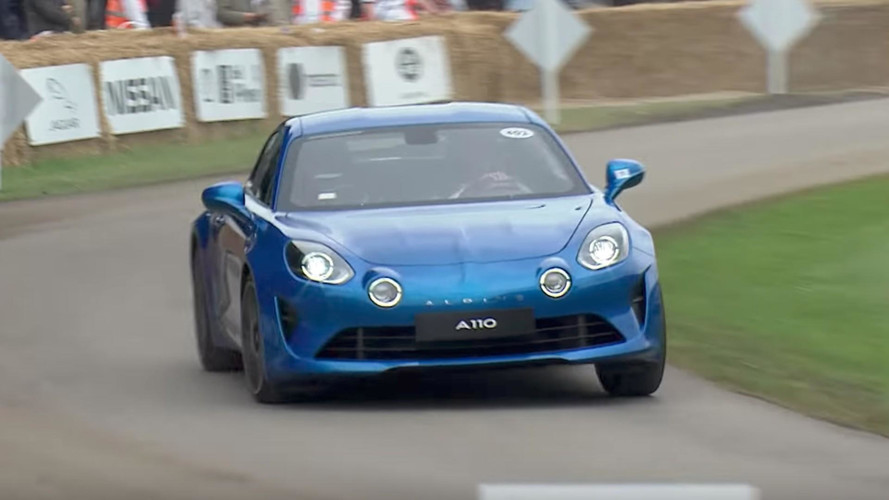 Watch The Alpine A110 Storm Up The Hill At Goodwood