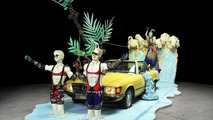 Mercedes-Benz, The installation 'The lifestyle convertible and the legendary playboy' with outfits from Bernhard Willhelm 19.01.2011