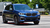 2018 BMW X3 M40i on the road