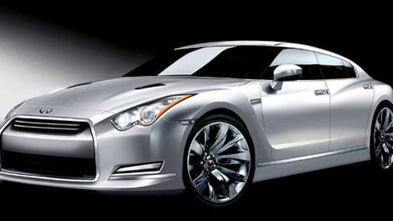 Nissan GT-R sedan artist interpretation sketch
