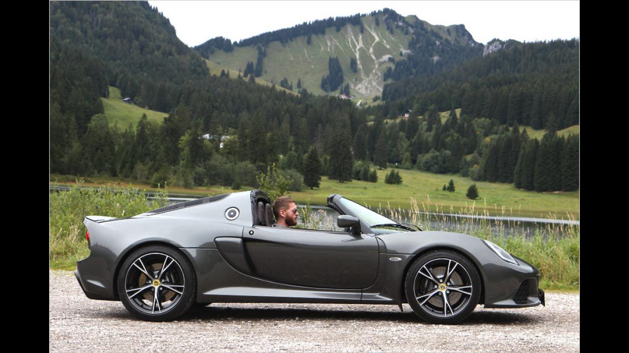 Platz 8: Lotus Exige S Roadster, 1.129 Millimeter Höhe