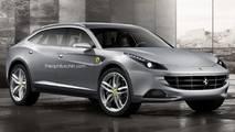 Recreacioenes del futuro Ferrari SUV