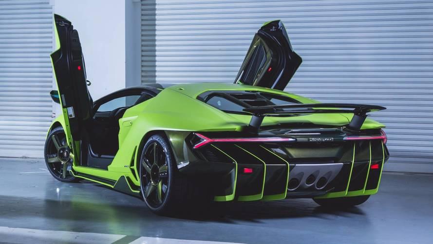 Next Lamborghini Centenario Lands In Hong Kong Wearing Lime Green