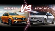 Renault Mégane R.S. vs SEAT Leon Cupra