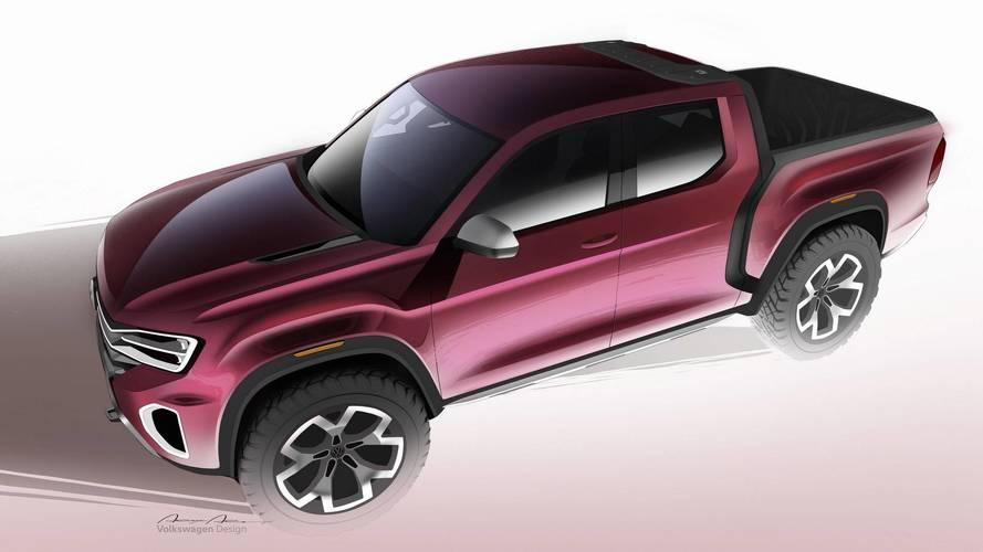 VW Atlas Tanoak: novos sketches detalham a picape monobloco