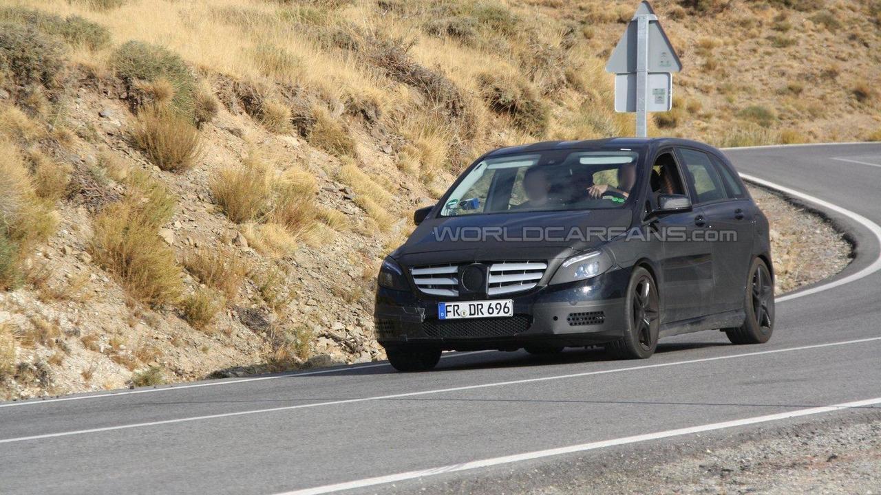 2013 Mercedes-Benz B-Class AMG first spy photos 30.09.2011