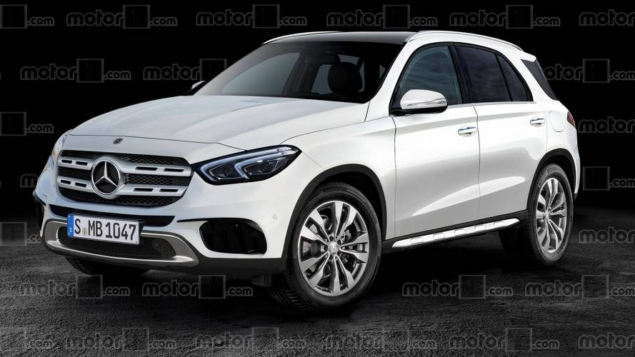 2019 mercedes gle ditches camo in new rendering for Mercedes benz gle 2019