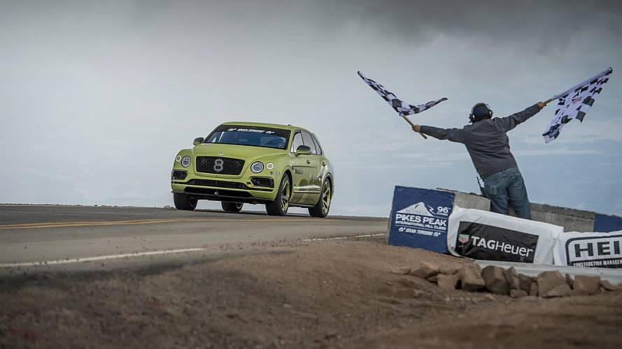 Bentley Bentayga sets SUV record at Pikes Peak