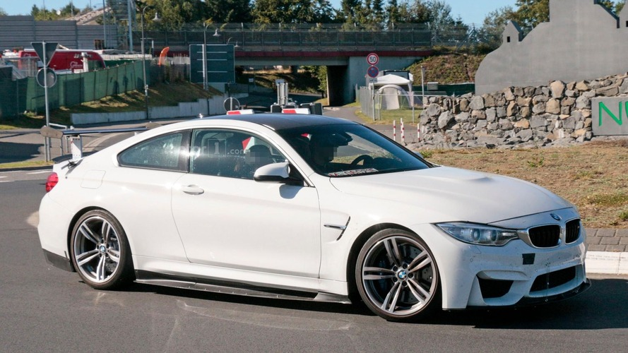 BMW M4 with aero upgrades caught on camera