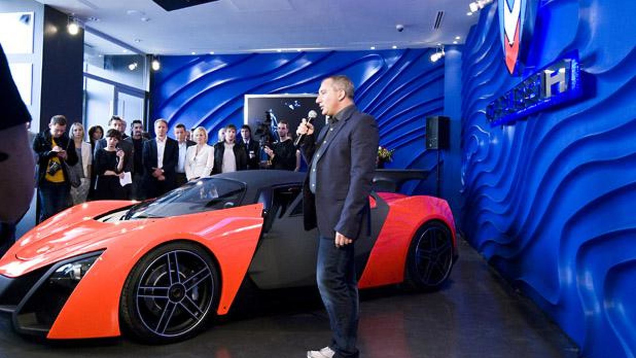 President of Marussia Motors Nikolai Fomenko, Marussia Moscow showroom grand opening, Marussia B2, 618, 10.09.2010