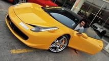 Dhiaa Al-Essa with his Ferrari 458 Italia before it was destroyed in a fire, 550, 07.09.2010