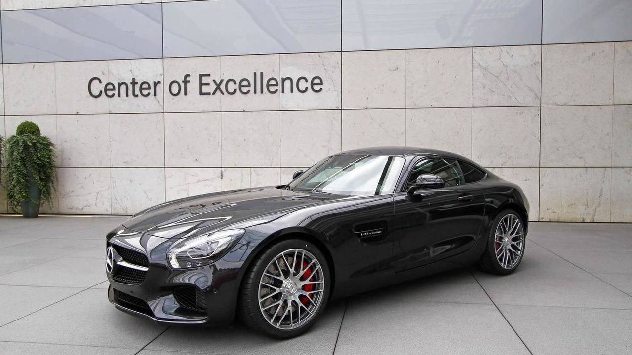 Black Mercedes-AMG GT at Center of Excellence in Sindelfingen