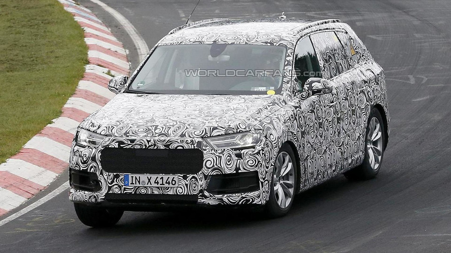 2016 Audi Q7 Plug-in Hybrid spied on the Nurburgring