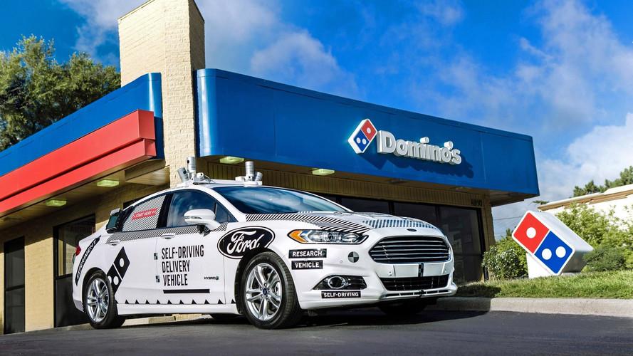 Ford Fusion autônomo para Domino's Pizza