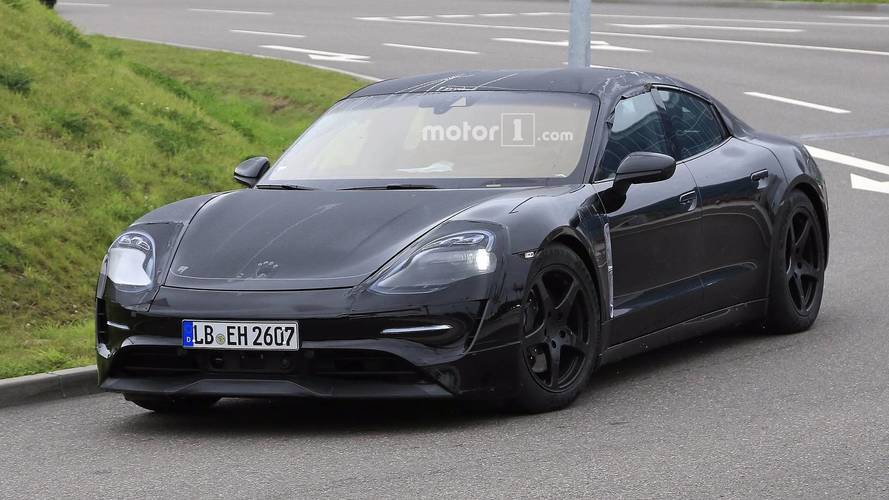 New Porsche Mission E spied testing in production form