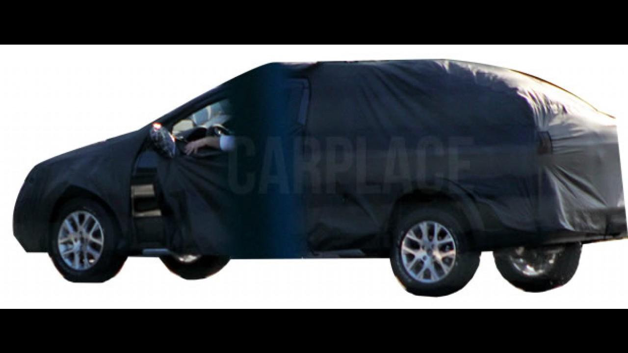 Exclusivo! Veja o primeiro flagra da VW Saveiro cabine dupla