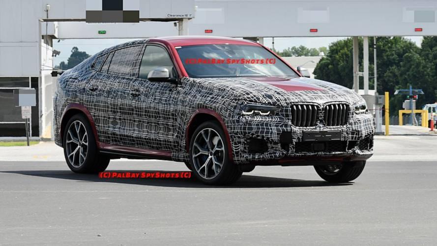 2020 BMW X6'nın M50i versiyonu üretim gövdesiyle görüldü