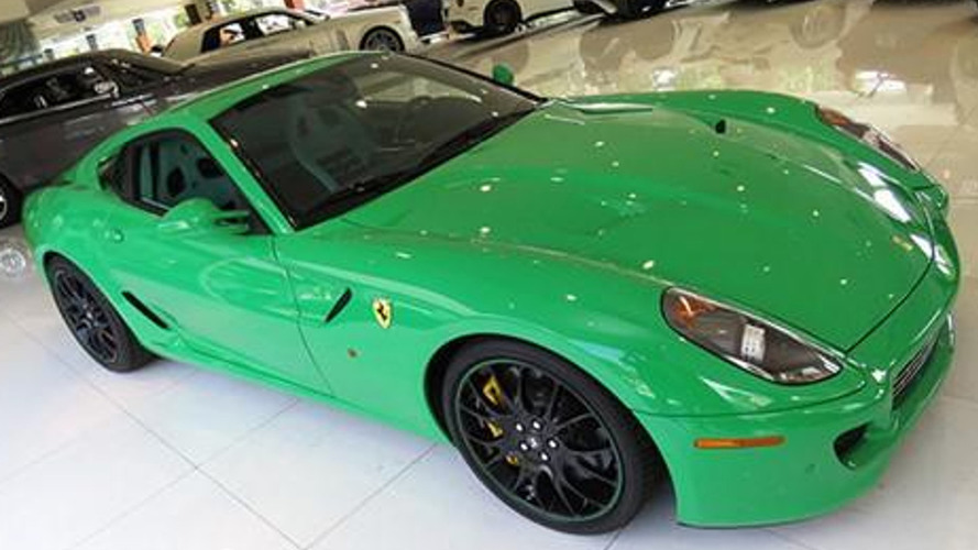 2007 Ferrari 599 GTB painted in Signal Green is a rare sight; on sale for $499,900