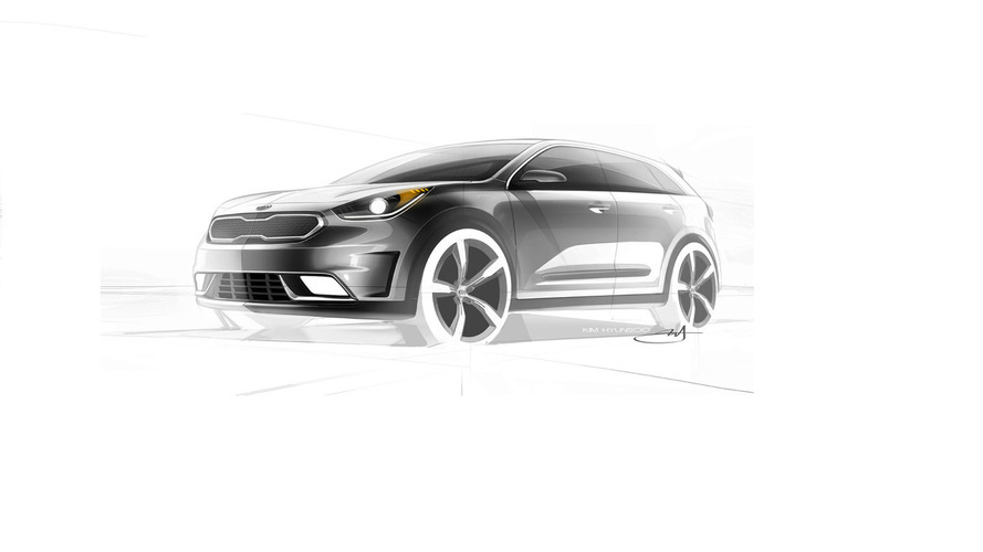 Kia Niro hybrid crossover first teasers are out ahead of 2016 launch