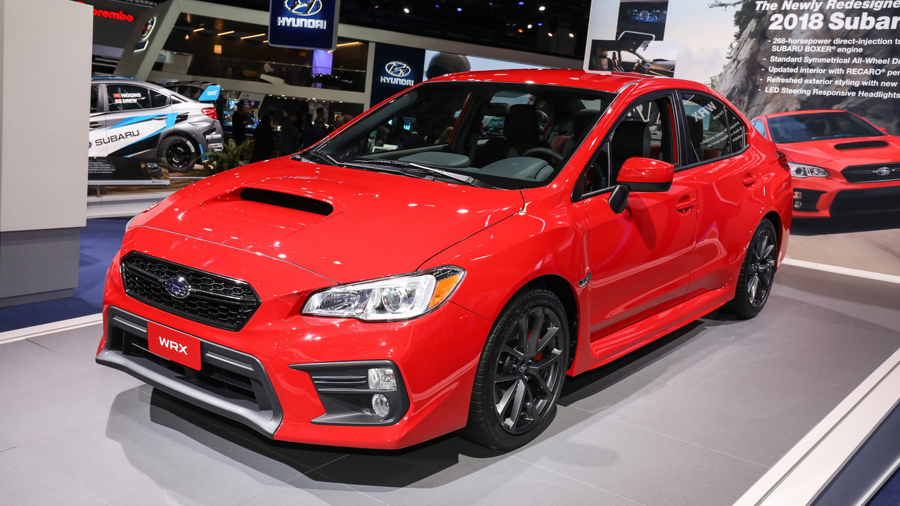2018 subaru wrx and sti pack improved tech into fresh faced package. Black Bedroom Furniture Sets. Home Design Ideas