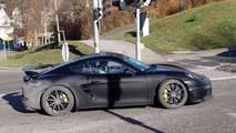 2018 Porsche 718 Cayman GT4 Spy Photo