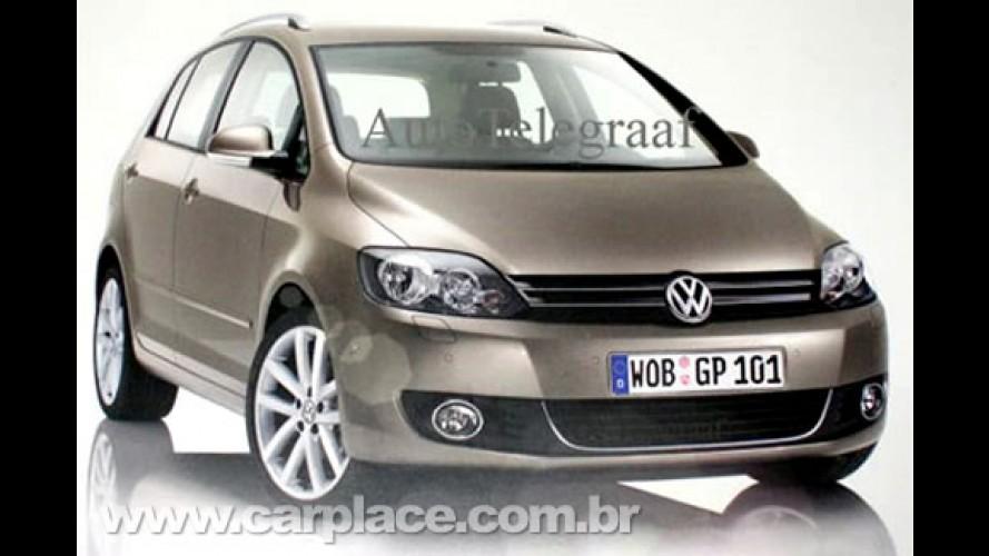 Novo Golf VI Plus - Volkswagen revela imagem da nova minivan sem querer