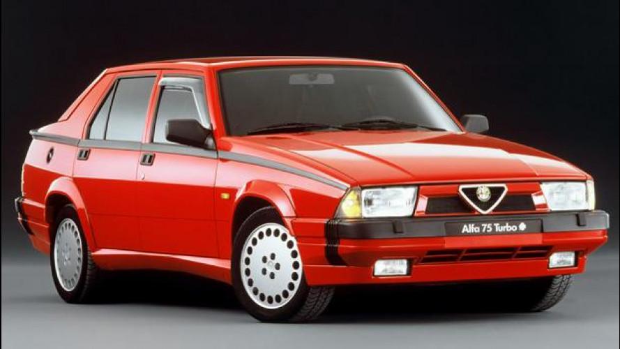 Alfa Romeo 75, trazione posteriore all'antica