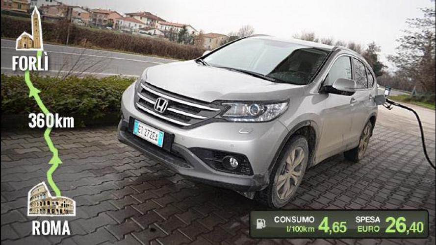 Honda CR-V 1.6 i-DTEC, la prova dei consumi