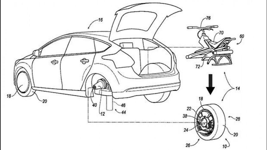 Ford, come la ruota di una Focus diventa un monociclo elettrico