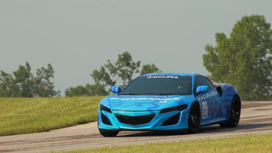2015 Acura NSX prototype hits the track [video]