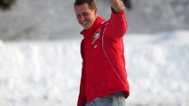 Michael Schumacher skiing at Wrooom annual Ski Press Meeting in Madonna di Campiglio Italy 14.01.2004
