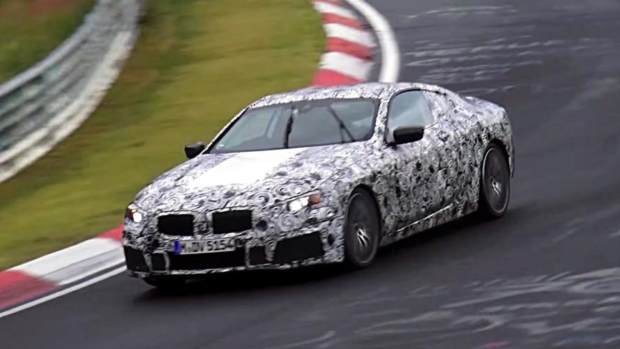 2018 BMW 8 Serisi ıslak Nürburgring'de