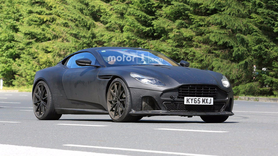 Aston Martin DB11 S Spied With Matte Black Body, Lower Suspension