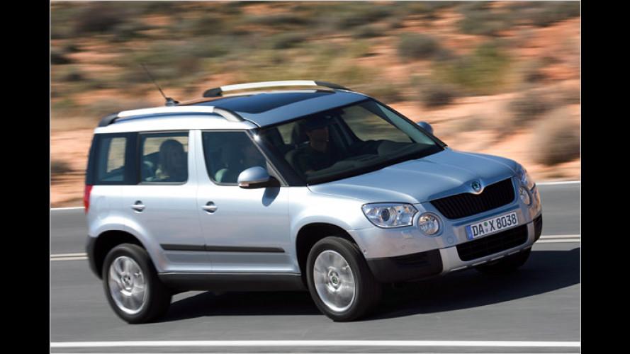 Neues Kompakt-SUV Skoda Yeti: Jetzt alle Preise fix