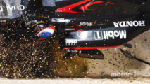 Fernando Alonso, McLaren MP4-31 in a huge crash
