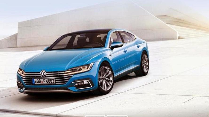 Next-gen Volkswagen CC rendered based on Sport Coupe Concept GTE