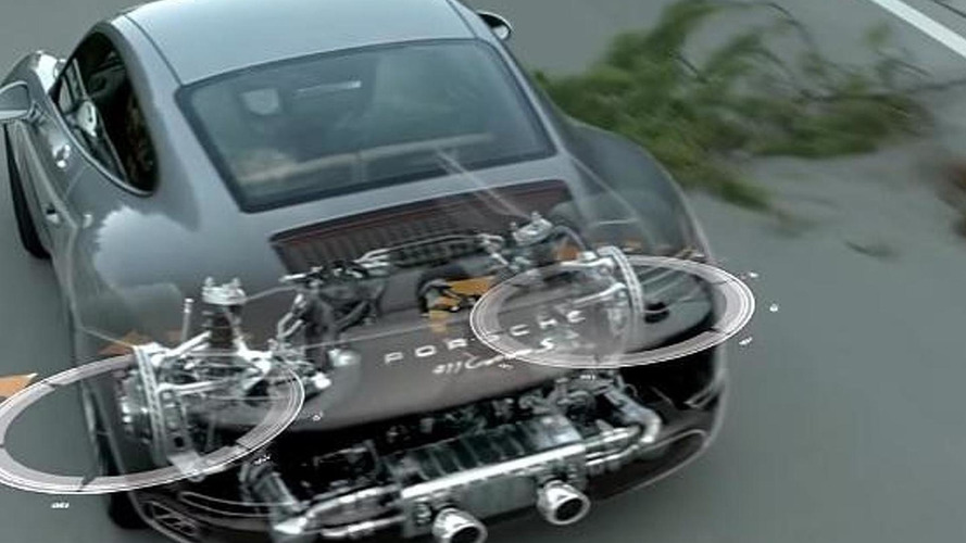 Porsche demonstrates 911 Carrera rear axle steering system [video]