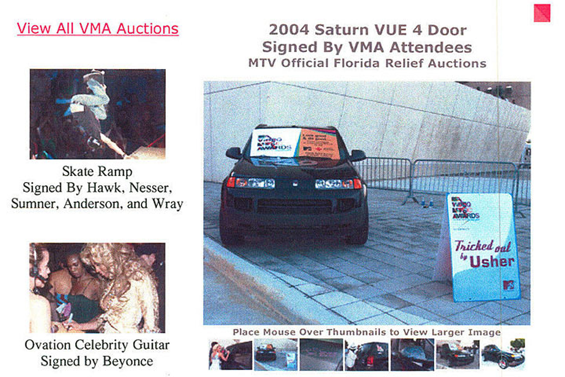 You Can Buy Usher's 2004 MTV VMA Saturn Vue on eBay
