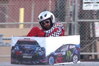 Watch Ken Box on his Crazy Cart Spoof Gymkhana