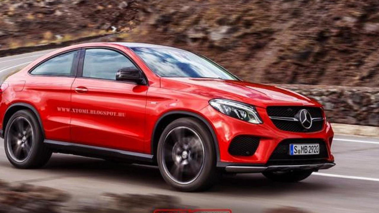 Mercedes-Benz GLE Coupe three-door render